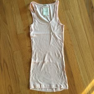 Gilly Hicks light baby pink stretch tank top